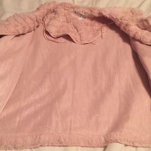 Robbie Bee Jackets & Coats - Robbie Bee Blush Pink Fur Shrug
